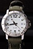 Relógios do esporte no preto Foto de Stock