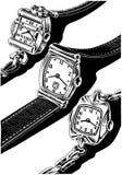 Relógios três Fotografia de Stock