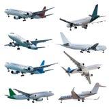 Rel Düsenflugzeuge eingestellt Stockbilder