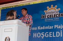 Rel för Antalya borgmästareMenderes TÃ ¼ Fotografering för Bildbyråer