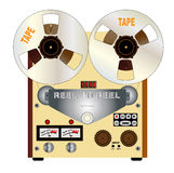 Rel To Reel. A typical reel to reel quarter inch stereo master tape recorder stock illustration