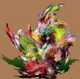 Rel van kleuren van fractal het schilderen Royalty-vrije Stock Foto's