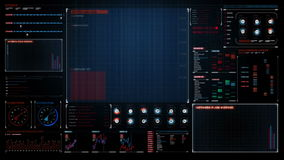 Relação da indicação digital gráfico da tecnologia, tela futurista dos dados da operação de computador 1