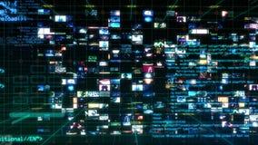 Relação da tecnologia - animação da visualização ótica dos dados do computador