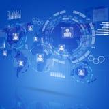 Relação da tecnologia de Digitas Imagem de Stock