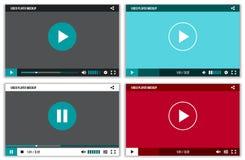 Relação da vídeo para a Web e apps móveis Molde do ui do modelo do vetor ilustração do vetor
