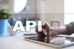 Relação de programação de aplicativo API Conceito da programação de software foto de stock royalty free