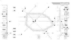 Relação digital futurista ilustração do vetor