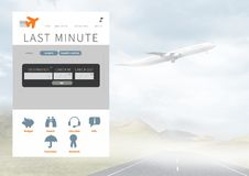 Relação do App da ruptura de feriado com avião Fotos de Stock Royalty Free
