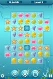 Relação do jogo do fósforo três para o mundo subaquático ilustração royalty free