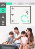 Relação do sistema tevê App da domótica fotos de stock
