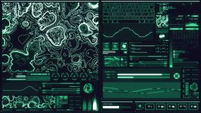 Relação futurista azul fria/Digitas screen/HUD ilustração do vetor
