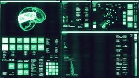 Relação futurista azul fria/Digitas screen/HUD ilustração stock