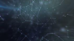 Relação futurista da conexão do espaço ilustração royalty free