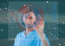 Relação futurista da sala com doutor novo Imagens de Stock Royalty Free