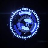 Relação futurista de HUD Target UX UI Imagens de Stock Royalty Free
