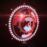 Relação futurista de HUD Target UX UI Foto de Stock
