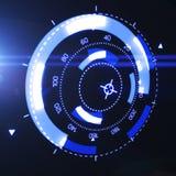 Relação futurista de HUD Target UX UI Foto de Stock Royalty Free
