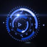 Relação futurista de HUD Target UX UI Fotografia de Stock