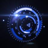 Relação futurista de HUD Target UX UI Fotografia de Stock Royalty Free