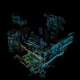 relação futurista do holograma 3d Fotos de Stock