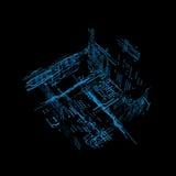 relação futurista do holograma 3d Fotografia de Stock Royalty Free