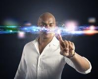 Relação futurista do tela táctil Imagem de Stock