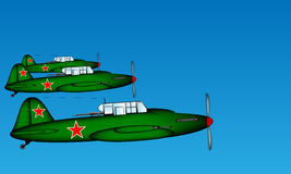 Relação Ilyushin plano tático Il-2 Fotografia de Stock Royalty Free
