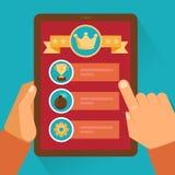 Relação móvel do jogo do vetor e ícones lisos ilustração royalty free
