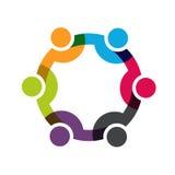 Relação social dos povos da rede ilustração do vetor