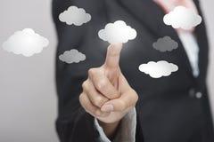 Relação virtual da nuvem Imagem de Stock Royalty Free