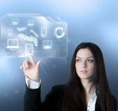 Relação virtual da tecnologia Foto de Stock