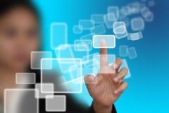 Relação virtual da tela de toque Fotos de Stock