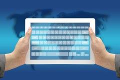 Relação virtual do teclado da tecnologia Fotos de Stock