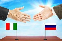 Relações amigáveis entre Rússia e Itália Fotografia de Stock