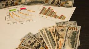 Relações econômicas do negócio fotografia de stock