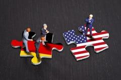 Relações entre Alemanha e os EUA Fotos de Stock Royalty Free