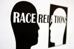 Relações raciais imagem de stock