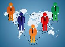 Relación de negocio global Imagen de archivo