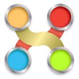 Relación del círculo 3d con negocio Imágenes de archivo libres de regalías