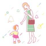 Relación entre la madre y la hija Fotografía de archivo libre de regalías