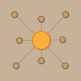 Relación simple ilustración del vector