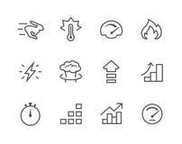 Relacionado determinado del icono simple al funcionamiento Imágenes de archivo libres de regalías