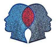 Relacionamento complicado ilustração stock
