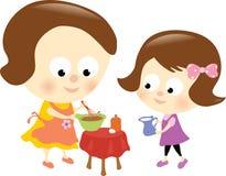 Relacionamento da matriz e da filha Imagens de Stock Royalty Free