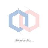 Relacionamento de sobreposição do polígono Fotografia de Stock