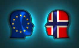 Relacionamento político e econômico entre a União Europeia e a Noruega Foto de Stock Royalty Free