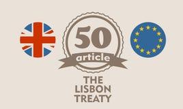 Relacionamentos de Grâ Bretanha e da União Europeia Metáfora de Brexit Fotos de Stock Royalty Free