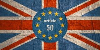 Relacionamentos de Grâ Bretanha e da União Europeia Metáfora de Brexit Imagens de Stock