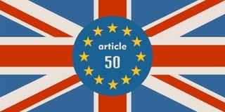 Relacionamentos de Grâ Bretanha e da União Europeia Metáfora de Brexit Imagens de Stock Royalty Free